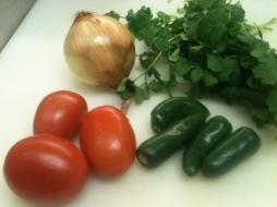 Chile tomate cilantro