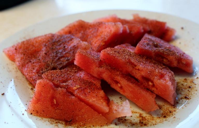 Watermelon with Pico de Gallo